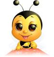 beautiful cute bee vector image vector image