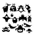 Black alien monster vector image