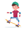 boy skateboarding on a skateboard vector image vector image