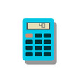 calculator icon savings finances sign vector image