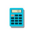 calculator icon savings finances sign vector image