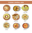 central asia food cuisine icons for vector image vector image
