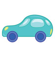 clipart a toy motor car in blue color color vector image