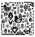 collection of black ethnic elements the nordic vector image vector image