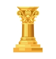 Corinthian realistic antique greek gold column vector image vector image