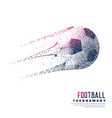creative football made with particles vector image vector image
