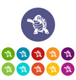 dancing turtle icon simple style vector image vector image