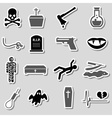 death theme set of black simple stickers eps10 vector image vector image