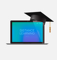 distance learning online education workplace at vector image vector image