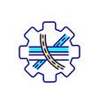 driveway junction rgb color icon vector image