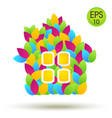 eco house logo house from colored leaves vector image vector image