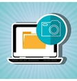 file transfer in social networks isolated icon vector image vector image