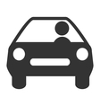 Flat driving icon isolated on white vector image