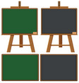 four blank boards on white background vector image