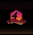 four years anniversary celebration logotype 4th