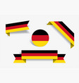 german flag stickers and labels vector image