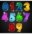 Glowing Number vector image