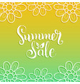 handwritten summer sale on vector image