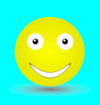 happy face vector image vector image