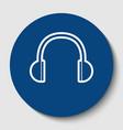 headphones sign white vector image