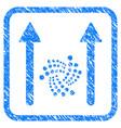 iota send arrows framed stamp vector image vector image