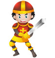 knight with red armour vector image vector image