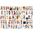 large set different people vector image