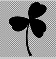leaf clover sign black a symbol on a transparent vector image