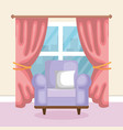 living room scene icon vector image vector image