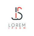 logo between letter j and letter s or js vector image vector image