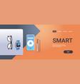 mobile app digital technology smart concept top vector image vector image