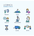 Office business modern thin line design icons and vector image vector image