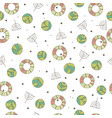pattern with cute leaves in white color vector image vector image