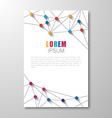 polygonal background brochure vector image vector image