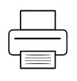 printer on white background vector image vector image