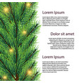 realistic fir tree branch with lights vector image