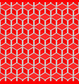 red cubes pattern seamless background vector image vector image