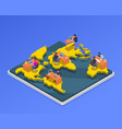 remote workers isometric vector image vector image