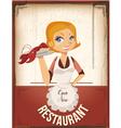 restaurant poster vector image vector image