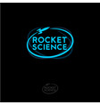 rocket science logo blue emblem vector image vector image