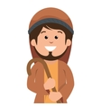 saint joseph manger character vector image vector image