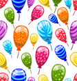 Seamless pattern with cute cartoon balloons 9 vector image vector image
