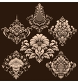 set of damask ornamental elements vector image vector image