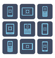 set of icons - mobile devices with currency vector image vector image