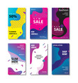set sale banner background with fluid gradient vector image