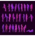 Set silhouettes of sexy girls vector image