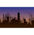 silhouette of town vector image