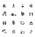 Spa Icons on White Background vector image vector image