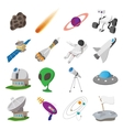 Space cartoon set vector image