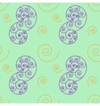 Spiral seamless pattern vector image